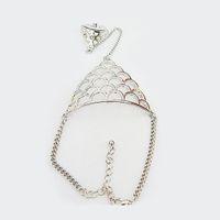 la moda de los esclavos al por mayor-Moda de fatima anillo de dedo cadena de mano arnés mujeres esclavas Nueva cadena de estilo punk arnés dedo brazaletes para mujeres # 5