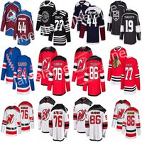 hockey jerseys rangers оптовых-2019 Нью-Джерси Девилз 76 П. К. Суббан 86 Джек Хьюз Хоккейные майки Нью-Йорк Рейнджерс 24 Каапо Какко Чикаго Блэкхокс 77 Джерси Кирби Дах