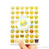 schule belohnung aufkleber großhandel-20 Blatt 960 Der Lächeln-Gesicht Ausdruck Emoji-Aufkleber für Tagebuch Fotoalbum Belohnung Notebook Schullehrer-Merit-Dekor-Lob