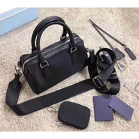 Wholesale black small bags for girls resale online - Boston bags three piece set shoulder bag for women purse Tote woman handbags presbyopic purse messenger bag handbags canvas purse lady