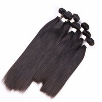 Wholesale brazilian remy hair price resale online - 1kg Factory Price Brazilian Straight Virgin Hair Peruvian Cambodian Mongolian Malaysian Raw Virgin Indian Human Hair Weft Bundles inch