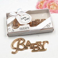 Wholesale birthday giveaways for sale - Group buy 50PCS Gold Baby Bottle Opener Baptism Party Favors Baby Shower Event Giveaway Birthday Gifts Kids Party Keepsake Beer Cap Opener