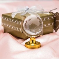 Wholesale desktop globe for sale - Group buy Clear Crystal Globe Crafts With Gift Box Packing Desktop Decoration Wedding Favor Party Gifts