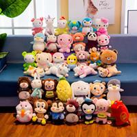 Wholesale white bunny toy resale online - Baby kids Plush Toys Animals Unicorn Bunny Baby comforter Dolls cm Wedding Gifts