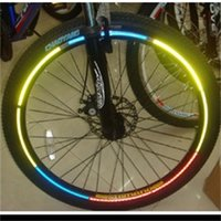 Wholesale strip decal for sale - Group buy Fluorescent Sticker Strip Decal Tape Reflective Stickers Bike Wheel Outdoor Sport Light Night Multi Color Safety ljf1