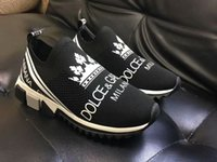 señoras corriendo zapatos de goma al por mayor-2019 nuevos zapatos de diseñador de zapatillas de deporte de malla unisex slip-on zapatos casuales zapatos de diseñador dama de goma bicolor micro suela tamaño 35-45