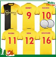 Wholesale gray football jersey for sale - Group buy Watford Soccer Jerseys home Yellow PEREYRA DEENEY GRAY DEULOFEU Jersey HUGHES football shirts