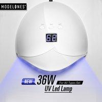 12 de fevereiro venda por atacado-Atacado 36 W UV Lâmpada LED Secador de Unhas Para Todos Os Tipos de Gel 12 Leds Lâmpada UV para a Máquina de Cura 60 s / 80 s / 99 s Temporizador USB conector