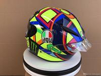 vollgesichtsschild großhandel-Designer Motorradhelme Motocross Racing Agv Pista Helm Motorrad Full Face Dual Shield Helm Unisex erhältlich