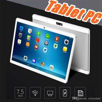 Wholesale dual camera pc tablet case resale online - 10 quot inch MTK6580 Octa Core Ghz Android G Phone Call tablet pc GPS bluetooth Wifi Dual Camera GB GB keyboard cover Case G PB
