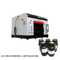 impresora de tarjetas de inyección de tinta al por mayor-EraSmart pequeño tamaño A3 1390 UV plana de la impresora Impresora de tarjetas de plástico PVC Impresora de inyección de tinta UV UV máquina de impresión digital