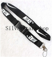 Wholesale Please contact us if you needNIKE Black and white Keychain Lanyard Clip with Webbing Strap Quick Release Buckle
