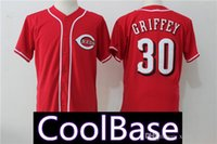 Wholesale red barry online - 30 Ken Griffey Jr Cincinnati Reds Jersey Chris Sabo Barry Larkin Pete Rose Johnny Bench Jerseys Cheap