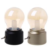 cogumelo lâmpada de mesa branco venda por atacado-Luz da noite do bulbo do vintage Recarregável USB LED de poupança de energia Lâmpada da cama Mini Desk Lights