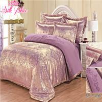 Wholesale unique printed bedding for sale - Group buy quot Silk Place quot Fashion Quality Satin Jacquard Bedding Set Qualified Bedclothes Unique Design No Fading Twin Full Queen