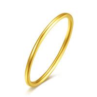 anel de ouro 999 venda por atacado-Nova Chegada Sólido 24 K Anel de Ouro Amarelo Mulheres 999 Anel de Ouro Suave