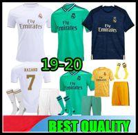 uniforme real al por mayor-19 20 Real Madrid camiseta de fútbol PELIGRO camiseta de fútbol para adultos de casa ASENSIO ISCO MARCELO madrid 2019 2020 kit para niños Uniformes de fútbol