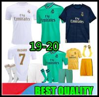 futbol forması gerçek madrid away toptan satış-19 20 Real Madrid Futbol Forması TEHLİKE ev uzakta yetişkin futbol gömlek ASENSIO ISCO MARCELO madrid 2019 2020 çocuklar kiti Futbol formaları