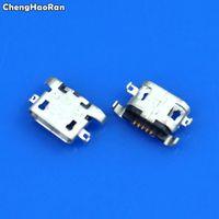 connecteur plat achat en gros de-ChengHaoRan 100-1000pcs Micro USB 5pin plaque lourde 1.28mm pas de bouche plate connecteur femelle pour Lenovo A670 S650 S820 A830