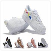 sapatos de arte homens venda por atacado-2020 Air Force 1 ART Running Shoes AF1 force1 Dunk Homens Mulheres de Utilidade plataforma skate triplo formadores coloridos tênis 36-45