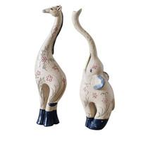 tierdeko großhandel-Elefant Home Deco Deer Figuren R Kawaii Wohnzimmer Dekoration Geschenk Dekor Statuette Tiere Elimelim