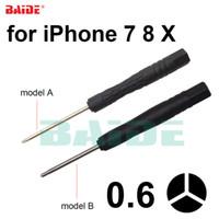 tornillos abiertos iphone al por mayor-Tri Wing 0.6Y Screwdriver, 0.6 Y Black Screwdrivers Herramienta de reparación de llaves para iPhone 7 8 X Plus Tornillos de apertura 1000pcs / lot