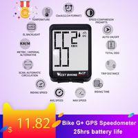 monitor de frequência cardíaca sem fio venda por atacado-Bicicleta computador G + GPS Sem Fios Velocímetro impermeável Road Bike MTB Bicicletas Backlight Bt ANT + com cadência de bicicleta Computadores