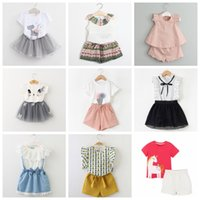 3808a1f3311 Wholesale carters baby clothes for sale - 2 years baby girls summer outfits  total designs children
