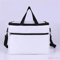 su çantası satışı toptan satış-Oxford Beyaz Tutulması Taşınabilir Çanta Su Geçirmez Sıcak Tutmak Paket Tek Omuz Soğutucu Yalıtımlı Termal Fermuar Sıcak Satış 18 8hpE1