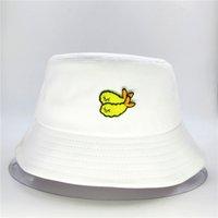 Wholesale cotton shrimp resale online - LDSLYJR Fried shrimp embroidery cotton Bucket Hat Fisherman Hat outdoor travel Sun Cap Hats for men and Women