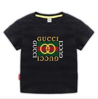 ropa vieja para niños al por mayor-2019 Nueva marca de diseñador 2-9 años de edad, bebés, niñas, camisetas, camisetas de verano, tops, camisetas para niños, camisetas para niños, ropa a01