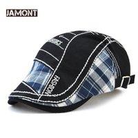 top hüte für frauen hochzeiten großhandel-JAMONT Vintage Hut Lässige Baskenmütze für Männer Outdoor-Sportarten Flache Mütze Damen Baskenmütze Sommer Herbst Stickerei Markendesigner Retro