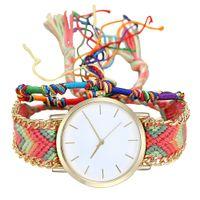 наручные часы магазин оптовых-Vansvar Handmade Ladies Vintage Quartz Watch White Friendship Young Ladies Women Bracelet Watches YY11