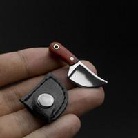 outils de camping gadgets achat en gros de-Couteaux Tactique Camping Chasse Couteau Karambit Griffe Lame Fixe Mini collier En Plein Air Camp Gadget Survie EDC Outil