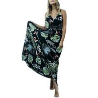 пляжные платья для беременных оптовых-Взрыв моделей лето новый принт ремешок сексуальный пляж беременных женщин платье женская горячая распродажа бесплатная доставка