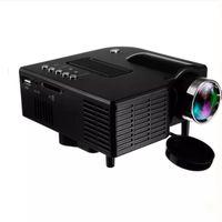UC28+ Portable 3D LED Projectors Home Cinema Theater UC28 USB SD AV HDMI VGA Input Mini Multimedia Entertainment Pocket Beamer Wholesale