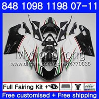 Wholesale 1198s fairing for sale - Group buy Body For DUCATI R HM S S S R light white hot S R R Fairing
