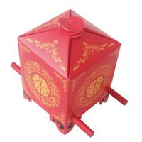 caja de decoración china al por mayor-Estilo asiático chino rojo doble felicidad sedán silla favor de la boda caja de regalo del regalo del favor caja de dulces decoración de la boda