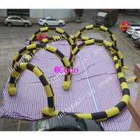 Wholesale cheap giant toy online - free ship to door x15m giant Cheap Outdoor Inflatable Race Track Newest Go Kart Track Sport Game air zorb ball race track