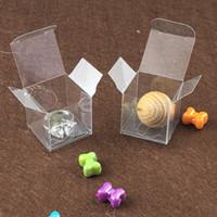 limpar caixas de pvc para doces venda por atacado-Caixas plásticas claras dos doces da caixa de presente do pacote da caixa do PVC, caixa do casamento, caixas de embalagem pequenas 3 * 3 * 3cm da exposição transparente da jóia