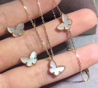 ingrosso farfalla bianca d'argento-S925 bracciale in argento puro da donna di lusso con farfalla bianca in conchiglia naturale per donne e fidanzate goccia di gioielli da regalo di nozze