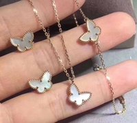 papillon d'argent blanc achat en gros de-S925 pur argent luxueux bracelet de femmes avec papillon blanc en nature shell pour les femmes et petite amie cadeau de mariage bijoux drop Shipping