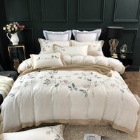 Wholesale chinese jacquard bedding for sale - Group buy New White S Egyptian Cotton Chinese Style Embroidery Bedding Set Queen King Duvet Cover Bed sheet Linen Pillowcases