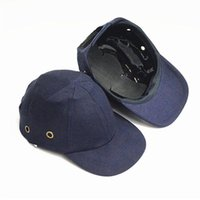Wholesale bumps head resale online - Bump Cap Work Safety Helmet Baseball Hat Style Protective Safety Hard Hat Work Wear Security Head Protection Side Holes