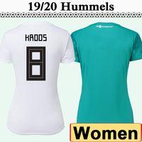 camiseta de fútbol verde blanco mujeres al por mayor-2018 DRAXLER los jerseys del fútbol de las mujeres de la Copa Mundial de Fútbol Hummels KROOS MULLER Inicio blancas camisas verdes lejos BOATENG señora Uniformes