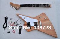 guitare anniversaire achat en gros de-Kit Guitare DIY Guitare Inachevée Nouvel Explorateur Custom Shop Korina 50ème Anniversaire