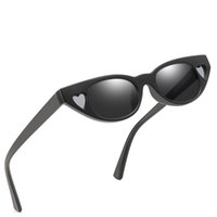 Wholesale kitten love resale online - High quality lady love kitten eyes sunglasses kitten eyes sunglasses heart shaped UV protection outdoor party ladies love sunglasses
