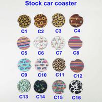 mamma bierdeckel großhandel-Neopren Auto Cup Mat Kontrast Mug Coaster Kaktus Blume Teetasse Regenbogen Leopard Farben Pad für Home Decor Zubehör