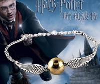 harry potter plakaları toptan satış-Toptan-2017 Sıcak Satış bilezik ölüm yadigarları Harry B Potter Bilezik Bırak erkekler serbest Kargo için altın kaplama Filmi Bilezik
