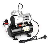 bomba de pressão de pistão venda por atacado-KKmoon Spraying compressor de ar com tanque 1/6 HP Piston Airbrush Compressor Oil-less silencioso de alta pressão Bomba Tattoo Manicure